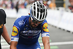 Julian Alaphilippe (FRA) deceuninck-Quick Step crosses the finish line losing over 3' and a podium place at the end of Stage 20 of the 2019 Tour de France running 59.5km from Albertville to Val Thorens, France. 27th July 2019.<br /> Picture: Colin Flockton | Cyclefile<br /> All photos usage must carry mandatory copyright credit (© Cyclefile | Colin Flockton)