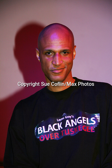 Thom Scott II (one of the cast) at Opening night of Layon Gray's Black Angels Over Tuskegee on February 15, 2010 at St. Luke's Theatre, New York City, New York. (Photo by Sue Coflin/Max Photos)