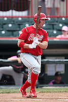 Reading Phillies first baseman Matt Rizzotti #40 during a game against the Erie Seawolves at Jerry Uht Park on May 29, 2011 in Erie, Pennsylvania.  Erie defeated Reading 6-5 in ten innings.  Photo By Mike Janes/Four Seam Images