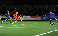 Blackpool's Harry Pritchard puts his shot over the bar<br /> <br /> Photographer Kevin Barnes/CameraSport<br /> <br /> The EFL Sky Bet League One - AFC Wimbledon v Blackpool - Saturday 29th December 2018 - Kingsmeadow Stadium - London<br /> <br /> World Copyright &copy; 2018 CameraSport. All rights reserved. 43 Linden Ave. Countesthorpe. Leicester. England. LE8 5PG - Tel: +44 (0) 116 277 4147 - admin@camerasport.com - www.camerasport.com