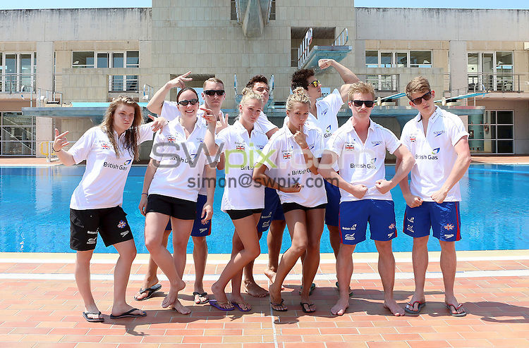 PICTURE BY VAUGHN RIDLEY/SWPIX.COM - Diving - GB Diving Training Camp - Palma, Mallorca, Spain - 27/06/13 - Hannah Starling, Rebecca Gallantree, Nick Robinson-Baker, Sarah Barrow, Tom Daley, Tonia Couch, Chris Mears, Jack Laugher and James Denny.