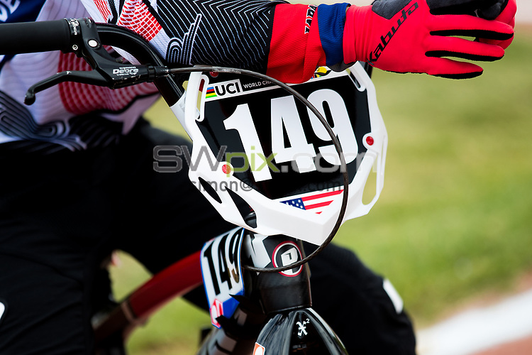 Picture by Alex Whitehead/SWpix.com - 29/07/2017 - Cycling - 2017 UCI BMX World Championships - Novant Health BMX Supercross Track, Rock Hill, USA - Brief. Box