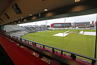General view from the media centre during Lancashire CCC vs Essex CCC, Specsavers County Championship Division 1 Cricket at Emirates Old Trafford on 6th September 2017
