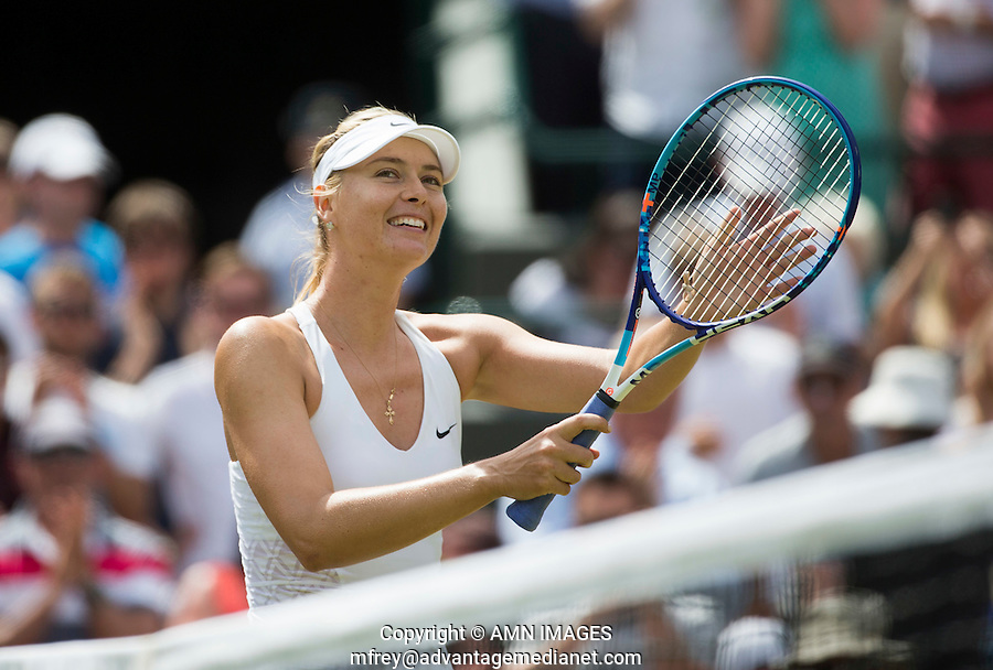 MARIA SHARAPOVA (RUS)<br /> <br /> TENNIS - THE CHAMPIONSHIPS - WIMBLEDON 2015 -  LONDON - ENGLAND - UNITED KINGDOM - ATP, WTA, ITF <br /> <br /> &copy; AMN IMAGES
