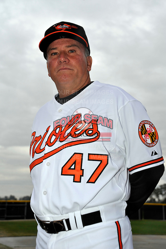 Feb 27, 2010; Tampa, FL, USA; Baltimore Orioles  manager Dave Trembley (47) during  photoday at Ed Smith Stadium. Mandatory Credit: Tomasso De Rosa