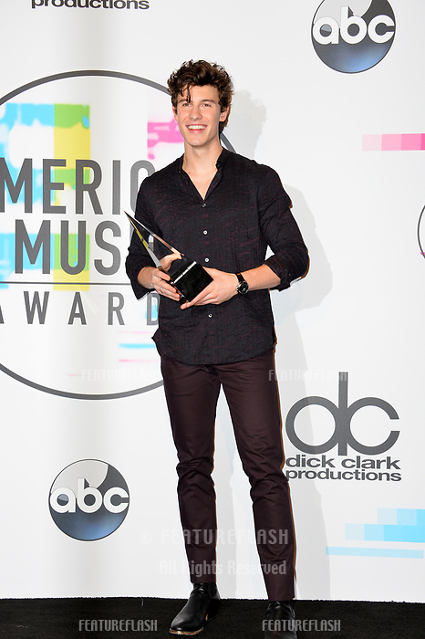 Shawn Mendes at the 2017 American Music Awards at the Microsoft Theatre LA Live, Los Angeles, USA 19 Nov. 2017<br /> Picture: Paul Smith/Featureflash/SilverHub 0208 004 5359 sales@silverhubmedia.com