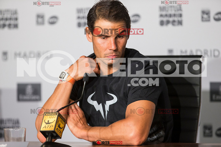 Rafa Nadal during press conference of  Mutua Madrid Open Tennis 2017 at Caja Magica in Madrid, May 08, 2017. Spain. /NortePhoto.com