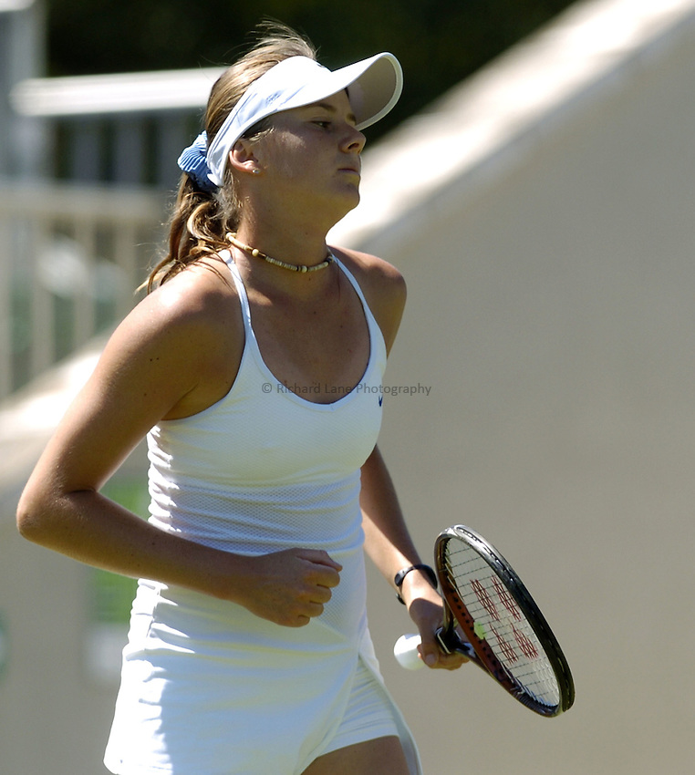 Photo: Richard Lane..Hastings Direct International Championship at Eastbourne. 15/06/2004..Daniela Hantuchova of Slovakia celebrates a point during her match against Amy Frazier.
