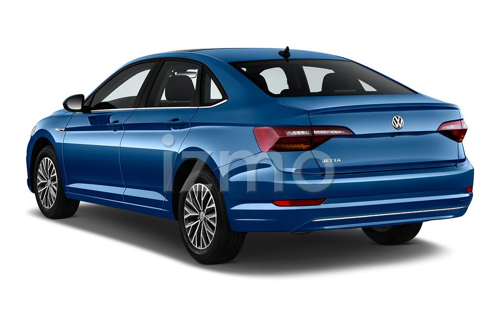 Car pictures of rear three quarter view of a 2019 Volkswagen Jetta SEL 4 Door Sedan angular rear