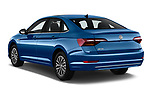 Car pictures of rear three quarter view of a 2019 Volkswagen Jetta SEL 4 Door Sedan angular rear