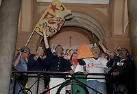 Luigi De Magistris festeggia la conferma a Sindaco di Napoli<br /> luigi De Magistris celebrates after wins the election for Naples, Mayor