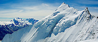Weisshorn summit ridge Panorama<br />