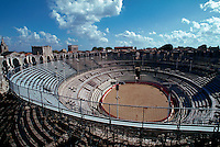 Roman amphitheater, now used for concerts and bullfights, Arles, France