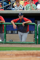 Boston Red Sox manager John Farrell #53 during a Spring Training game against the Philadelphia Phillies at Bright House Field on March 24, 2013 in Clearwater, Florida.  Boston defeated Philadelphia 7-6.  (Mike Janes/Four Seam Images)