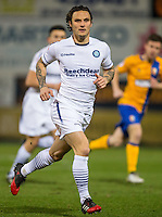 Sam Saunders of Wycombe Wanderers during the The Checkatrade Trophy  Quarter Final match between Mansfield Town and Wycombe Wanderers at the One Call Stadium, Mansfield, England on 24 January 2017. Photo by Andy Rowland.