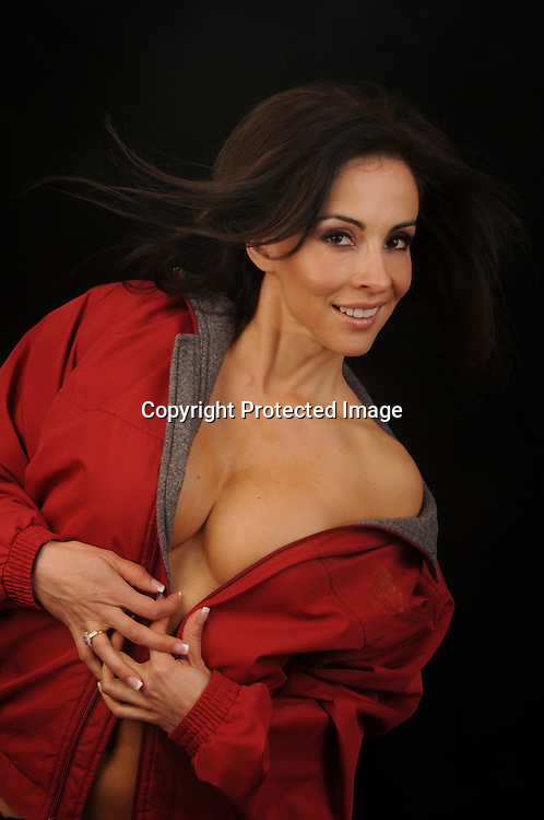 Hot sexy young attractive seductive Hispanic woman stock photo