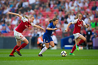 Fran Kirby of Chelsea Ladies evades the challenge of Louise Quinn of Arsenal Women <br /> <br /> Photographer Craig Mercer/CameraSport<br /> <br /> The SSE Women's FA Cup Final - Arsenal Women v Chelsea Ladies - Saturday 5th May 2018 - Wembley Stadium - London<br />  <br /> World Copyright &copy; 2018 CameraSport. All rights reserved. 43 Linden Ave. Countesthorpe. Leicester. England. LE8 5PG - Tel: +44 (0) 116 277 4147 - admin@camerasport.com - www.camerasport.com