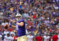 Jacob Eason fires another rocket.