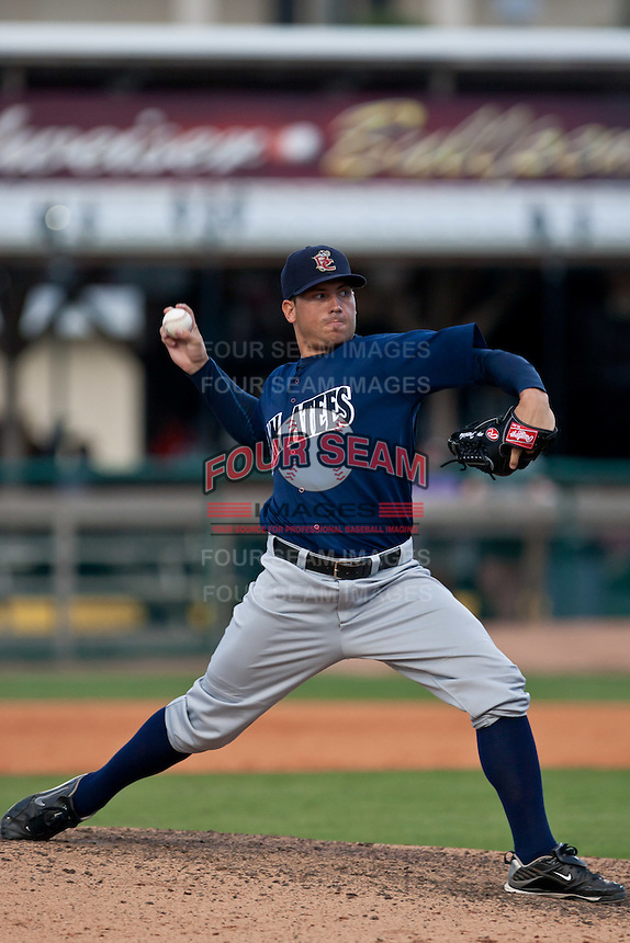 Corey Frerichs of the Brevard County Manatees during the game at Jackie Robinson Ballpark in Daytona Beach, Florida on August 23, 2010. Photo By Scott Jontes/Four Seam Images
