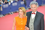Nelson Montfort and his wife attend the 41st Deauville American Film Festival Opening Ceremony on September 4, 2015 in Deauville, France.