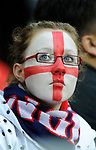 An England fan watches the game during the Friendly International match at Wembley Stadium, London. Picture date 28th May 2008. Picture credit should read: Simon Bellis/Sportimage
