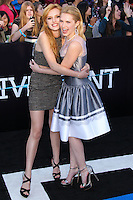 """WESTWOOD, LOS ANGELES, CA, USA - MARCH 18: Bella Thorne, Claudia Lee at the World Premiere Of Summit Entertainment's """"Divergent"""" held at the Regency Bruin Theatre on March 18, 2014 in Westwood, Los Angeles, California, United States. (Photo by Xavier Collin/Celebrity Monitor)"""