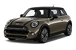 2019 Mini Hardtop 2 Door Cooper S Signature 3 Door Hatchback angular front stock photos of front three quarter view