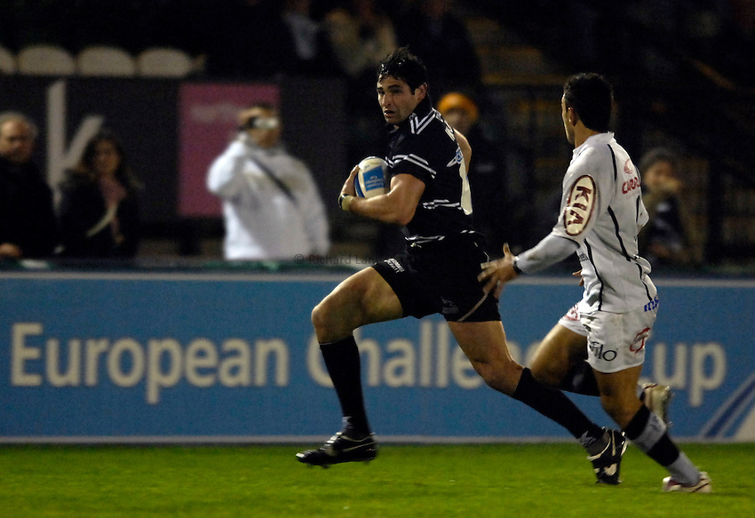 Photo: Jed Wee..Newcastle Falcons v Petrarca Padova. European Challenge Cup. 20/10/2006...Newcastle's Brent Wilson.