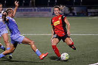 Rochester, NY - Friday July 01, 2016: Western New York Flash midfielder Meredith Speck (25), Chicago Red Stars midfielder Alyssa Mautz (4) during a regular season National Women's Soccer League (NWSL) match between the Western New York Flash and the Chicago Red Stars at Rochester Rhinos Stadium.