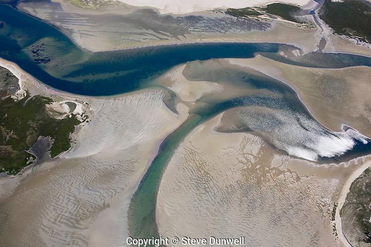 Monomoy tidal flats, Aerial view, Chatham, Cape Cod, MA