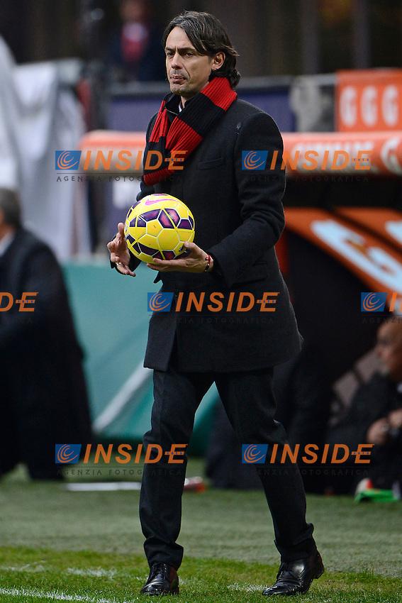 Filippo Inzaghi Milan<br /> Milano 15-02-2015 Stadio Giuseppe Meazza - Football Calcio Serie A Milan - Empoli. Foto Giuseppe Celeste / Insidefoto