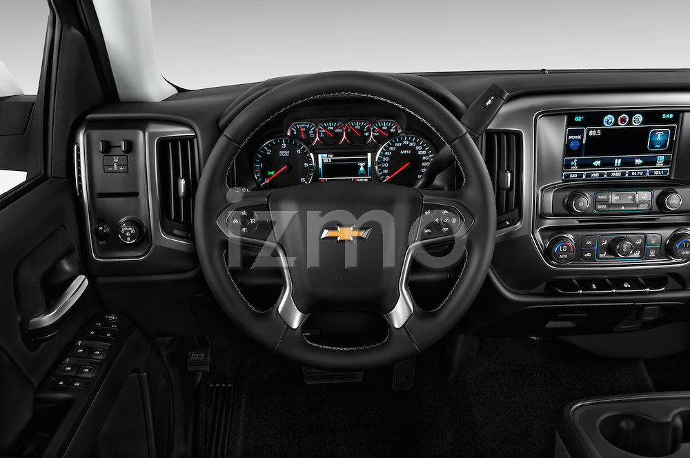Steering wheel view of a 2014 Chevrolet Silverado 1500 LT 2WD Crew Cab