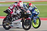 austin. tejas. USA. motociclismo<br /> GP in the circuit of the americas during the championship 2014<br /> 12-04-14<br /> En la imagen :<br /> free practices moto 3<br /> 22 ana carrasco<br /> 41 brad binder<br /> 19 alessandro tonucci<br /> photocall3000 / rme