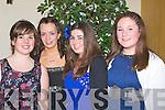 ATTENDING: At the Kilmoyley Hurling Social in Ballyroe Heights Hotel, Tralee on Saturday night, L-r: Aisling Leen, Louise Ryan(Kilmoyley), Lorraine Keane (Causeway) and Shauna Crowe (Kilmoyley).......... . ............................... ..........