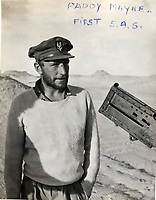 BNPS.co.uk (01202 558833)<br /> Pic: Bosleys/BNPS<br /> <br /> SAS legend Paddy Mayne in the Western Desert, he took over 1st SAS after founder David Stirling was captured.<br /> <br /> Sold for £25,000 - An extraordinary wartime archive that lift's the veil on the earliest days of the SAS during WW2.<br /> <br /> The late Fred Casey was among the original dozen members of the 1st Special Air Service that was formed in North Africa to wreak havoc behind enemy lines.<br /> <br /> The commando's military possessions included a remarkable album containing previously unseen images of the founding members of the elite force.<br /> <br /> Legendary Captain David Stirling, who formed the 'Who Dares Wins' regiment, and hand-picked the men under his command, is pictured along with his controversial deputy Paddy Mayne , who took over the top secret regiment after Stirling's capture.<br /> <br /> The album sold at Bosley's Auctioneers of Marlow, Bucks, last week for over five times its pre-sale estimate..