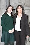 Scoile Aonghusa Confirmation in St Peters Church..Derbhla Murphy with sponsor Noeleen Binte..Photo: Fran Caffrey/www.newsfile.ie...