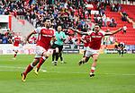 Rotherham United VS Bury, New York Stadium Rotherham, Saturday 9th September 2017 <br /> Rotherhams Richie Towell celebrates scoring the winner for Rotherham against Bury 3-2.<br /> <br /> Picture - Alex Roebuck / www.alexroebuck.co.uk