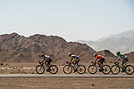 The breakaway group Marco Marcato (ITA) UAE Team Emirates, Benjamin Declercq (BEL) Sport Vlaanderen-Baloise, Robin Carpenter (USA) Rally Cycling and Nicholas Schultz (AUS) Caja Rural-Seguros RGA in action during Stage 5 of the 2018 Tour of Oman running 152km from Sam'il to Jabal Al Akhdhar. 17th February 2018.<br /> Picture: ASO/Muscat Municipality/Kare Dehlie Thorstad | Cyclefile<br /> <br /> <br /> All photos usage must carry mandatory copyright credit (&copy; Cyclefile | ASO/Muscat Municipality/Kare Dehlie Thorstad)