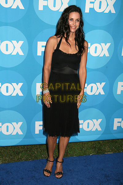 COURTENEY COX ARQUETTE.2006 FOX TCA Summer Party, Pasadena, California, USA. .July 25th, 2006.Ref: ADM/BP.full length black halterneck dress pleated courtney.www.capitalpictures.com.sales@capitalpictures.com.©AdMedia/Capital Pictures.