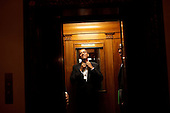 Early in the morning on Jan. 21st, President Barack Obama rides the elevator to the Private Residence of the White House after attending 10 inaugural balls and a long day including being sworn in as President at noon on Tuesday, Jan. 20, 2009..Mandatory Credit: Pete Souza - White House via CNP