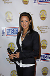 EVA LARUE. Arrivals to A Tribute to the USO, a musical and video tribute to seven decades of USO service at the Saban Theatre. Beverly Hills, CA, USA. February 21, 2010.