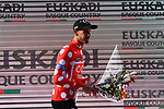 Alessandro de Marchi (ITA) CCC Team takes over the Polka Dot Mountains Jersey at the end of Stage 5 of the Tour of the Basque Country 2019 running 149.8km from Arrigorriaga to Arrate, Spain. 12th April 2019.<br /> Picture: Colin Flockton | Cyclefile<br /> <br /> <br /> All photos usage must carry mandatory copyright credit (© Cyclefile | Colin Flockton)