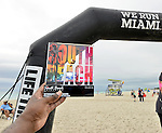 MIAMI BEACH, FLORIDA - APRIL 03: General view atmosphere during the Life Time South Beach Triathlon swim at Lummus Park on April 3, 2016 in Miami Beach, Florida. ( Photo by Johnny Louis / jlnphotography.com )