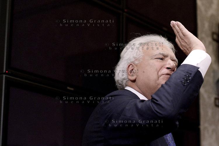 Roma 29 Luglio 2015.<br /> Denis Verdini.<br /> Conferenza stampa in senato per la presentazione del nuovo gruppo Alleanza Liberalpopolare-Autonomie, ALA.