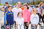 Emma Lynch, Avril Lynch, Lily Field, Kate Daly and Brooke Curran who ran in the Kilgobnet NS Family Colour Splash run on Sunday