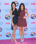 Kendall Jenner and  Kylie Jenner at FOX's 2012 Teen Choice Awards held at The Gibson Ampitheatre in Universal City, California on July 22,2012                                                                               © 2012 Hollywood Press Agency