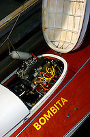 """Engine bay of the 1939 A-classs Inboard """"Bombita""""."""