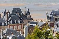 France, Calvados (14), Côte Fleurie, Trouville-sur-Mer,  villas du front de mer // France, Calvados, Côte Fleurie, Trouville sur Mer, detail of villas on the seafront