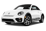 Stock pictures of low aggressive front three quarter view of 2017 Volkswagen Beetle Dune 3 Door Hatchback
