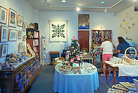 Two women in the gift shop at the Lyman Museum in Hilo.  The museum is a missionary home from the 1800s, and the site also has scientific and Hawaiian culture galleries